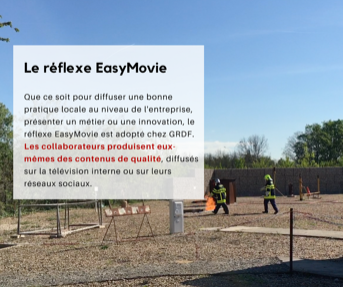 GRDF utilise EasyMovie pour filmer des vidéos d'entreprise