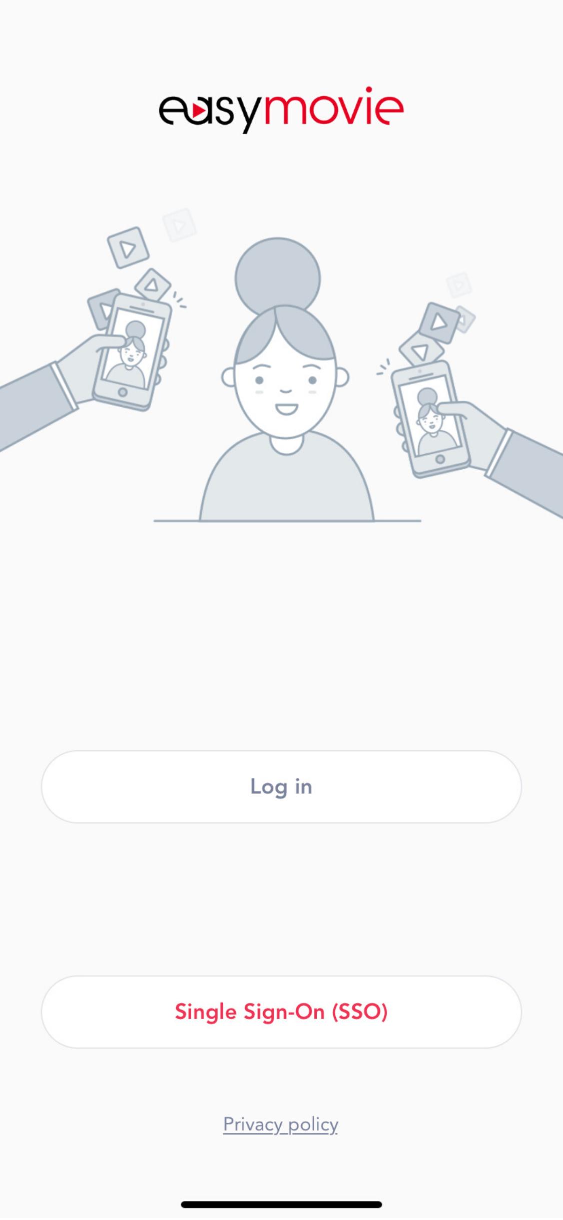 iPhone X login screen